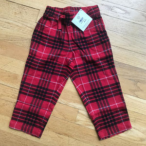 NWT Hanna Andersson Children's Plaid Pajama Pants